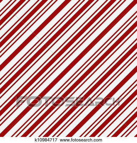 Picture Of Red And White Striped Fabric Background K10984717