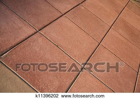 Stock Photo Of Red Clay Tile Floor K11396202 Search Stock