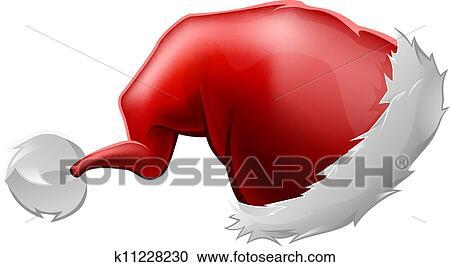 Clipart Rosso Cappello Babbo Natale K11228230 Cerca Clipart