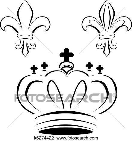 clipart of royal crown fleur art k6274422 search clip art rh fotosearch com royal clipart design clash royal clipart