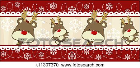 Rudolph Christmas Decorations.Rudolph Banner Christmas Decoration Clipart