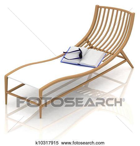 Mann und frau im liegestuhl clipart  Stock Illustration - sandstrand, liegestuhl k10317915 - Suche ...