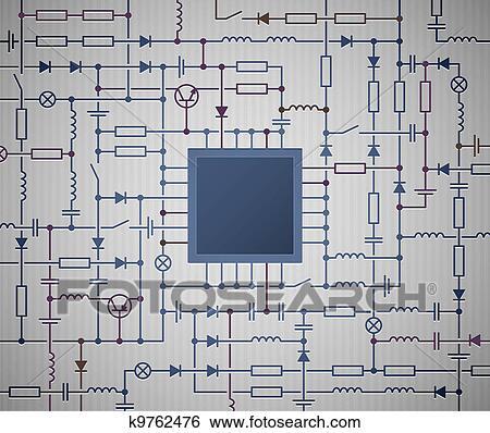 Clip Art - schaltplan k9762476 - Suche Clipart, Poster ...