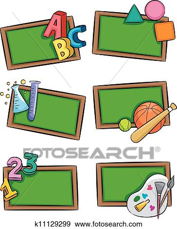 clip art of school subjects icons k11129299 search clipart rh fotosearch com  school subjects clipart black and white