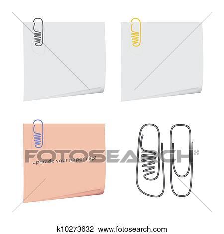 Clip Art Schuh Büroklammer K10273632 Suche Clipart Poster