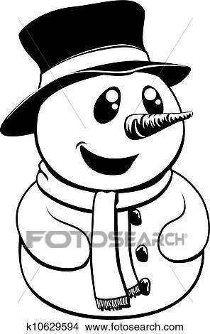 Weihnachten Schwarz Weiß Bilder.Schwarz Weiß Weihnachten Schneemann Clipart
