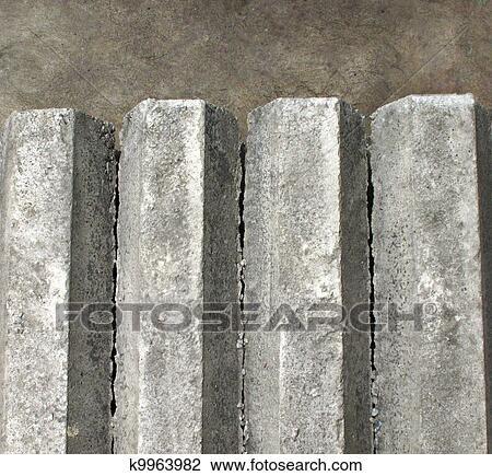 Stock Foto Sechseck Betonieren Pfeiler Auf Boden K9963982