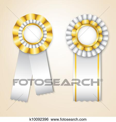 stock illustration of set of vector prize ribbons k10092396 search