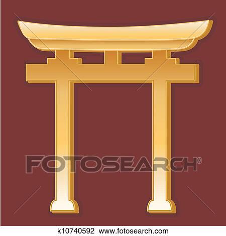 Clipart Of Shinto Symbol K10740592 Search Clip Art Illustration