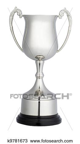 A Silver Trophy Cup Isolated On White With Clipping Path
