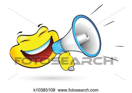 Clipart Smiley à Porte Voix K Recherchez Des Cliparts - Porte voix