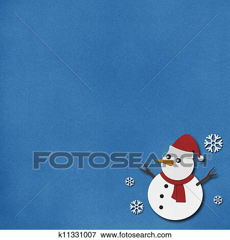 Stock Illustration Of Snowman Recycled Paper Craft On Paper