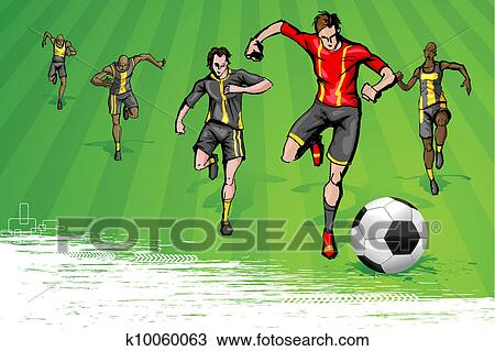 Soccer Game Clipart K10060063 Fotosearch