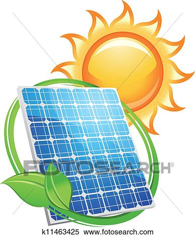 clipart of solar panel and batteries with sun symbol k11463425 rh fotosearch com Energy Clip Art renewable energy clipart