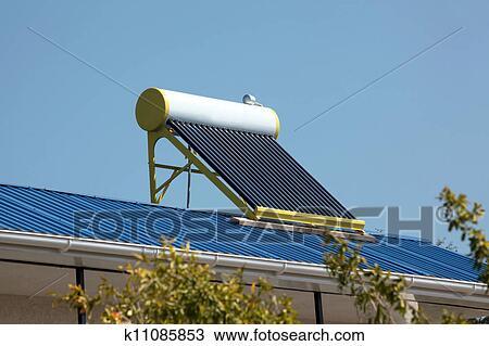 Solar Water Heater Stock Image K11085853 Fotosearch