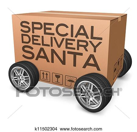Drawings Of Special Delivery Santa K11502304 Search Clip Art