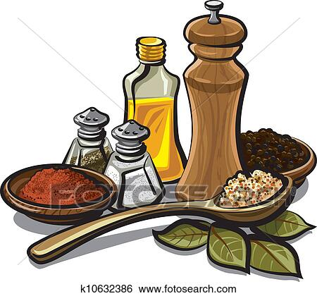 Spices And Flavoring Clip Art K10632386 Fotosearch