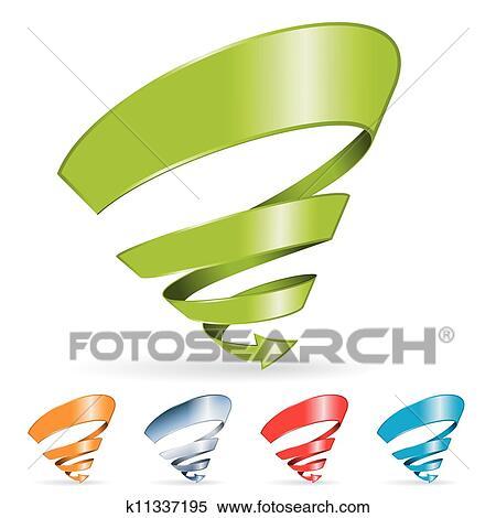 Spiral Arrow Clipart | k11337195 | Fotosearch
