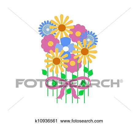 Clipart of spring flowers k10936561 search clip art illustration clipart spring flowers fotosearch search clip art illustration murals drawings and mightylinksfo