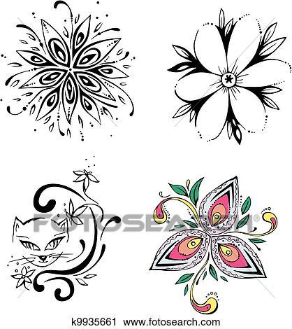 Clipart Stilizzato Fiori K9935661 Cerca Clipart Illustrazioni