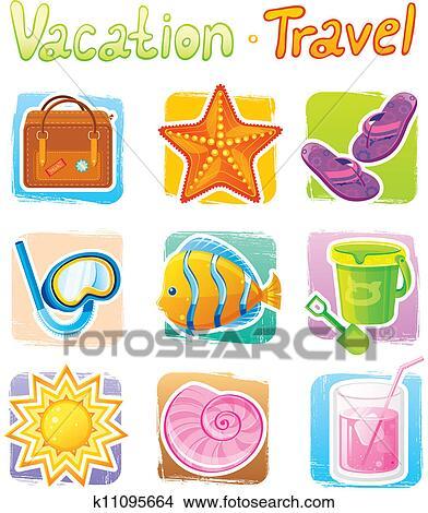 summer icon clipart k11095664 fotosearch fotosearch
