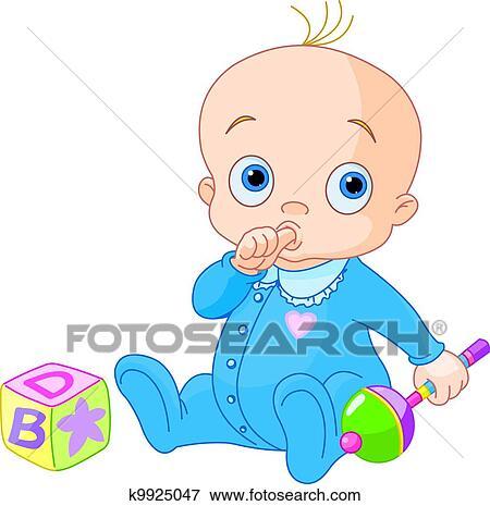Sweet Baby Boy Clip Art K9925047 Fotosearch