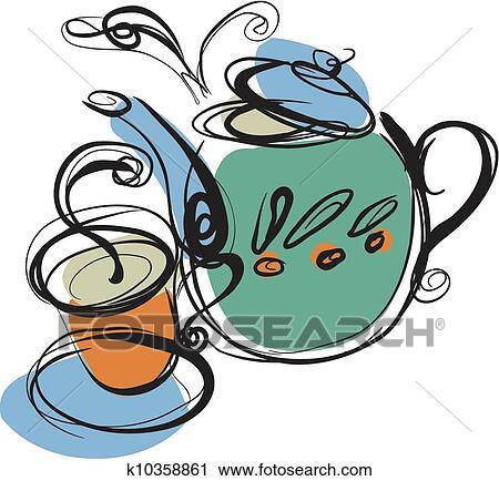 Drink and Beverage Clipart : tea-glass-cup : Classroom Clipart |Hot Tea Art
