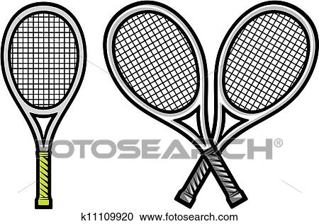 Clipart Of Tennis Racket K11109920 Search Clip Art Illustration
