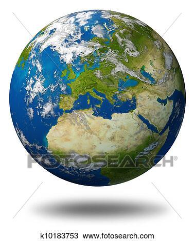 Terre Planète à Europe Dessin