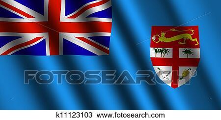 The Fiji Flag Drawing