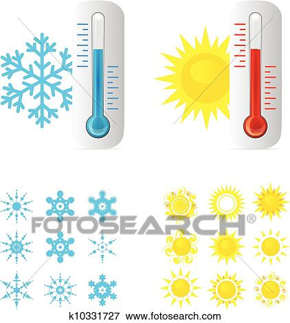 Thermometer Hot And Cold Temperature Clip Art | k10331727 ...