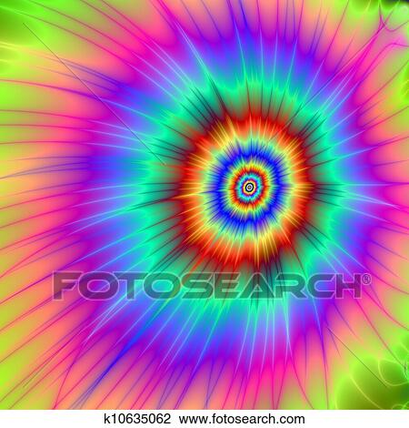 Tie dye Color Explosion Drawing