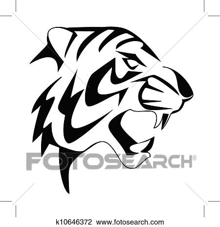 clipart of tiger face k10646372 search clip art illustration rh fotosearch com tiger face clipart black and white tiger face clipart easy
