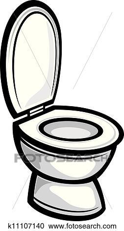 Toilet Toilet Bowl Clipart K11107140 Fotosearch