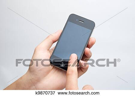 picture of touch screen phone k9870737 search stock photography