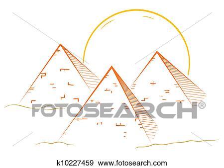 Tres Piramides Clipart K10227459 Fotosearch