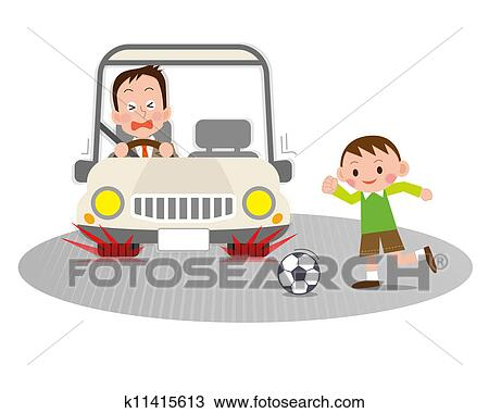 Drawing of traffic accident k11415613 - Search Clipart, Illustration ...