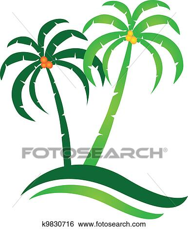 clip art of tropical island logo vector k9830716 search clipart rh fotosearch com palm tree free vector palm tree free vector download