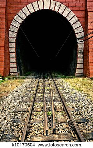 Stock Photo Of Tunnel Of The Train With Railway K10170504
