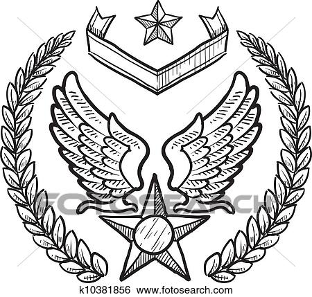 Us Air Force Military Insignia Clip Art