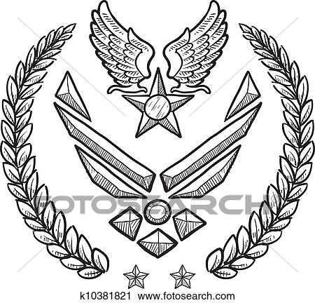 Superior Clipart   US Air Force Military Insignia. Fotosearch   Search Clip Art,  Illustration Murals