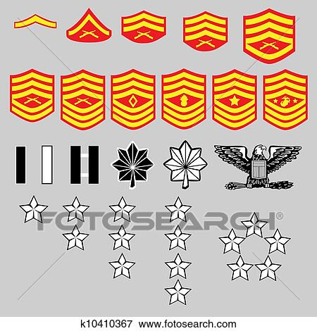 Clip Art Of Us Marine Corps Rank Insignia K10410367 Search Clipart