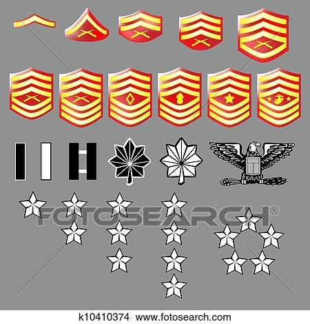 Clipart Of Us Marine Corps Rank Insignia K10410374 Search Clip Art