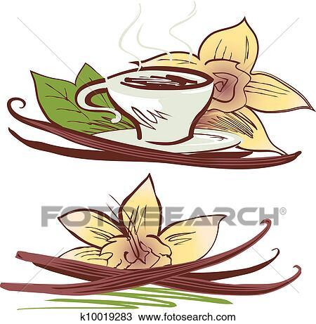 Clipart vanille haricots k10019283 recherchez des clip arts des illustrations des dessins - Vanille dessin ...