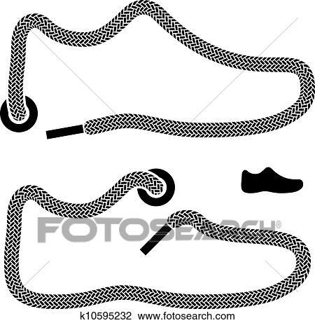 Vecteur K10595232 Lacet Symboles Chaussure Recherchez Clipart xYwTq171