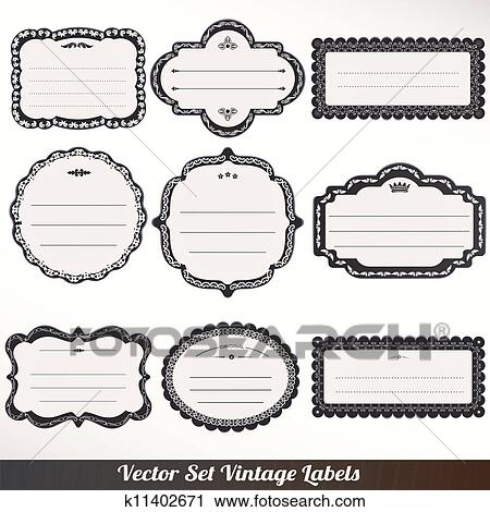Clipart Of Vector Frame Labels Set Ornamental K11402671 Search
