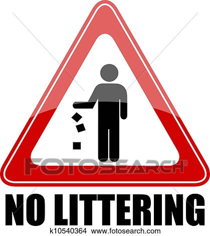 Clipart Of Vector No Littering Sign K10540364 Search Clip Art
