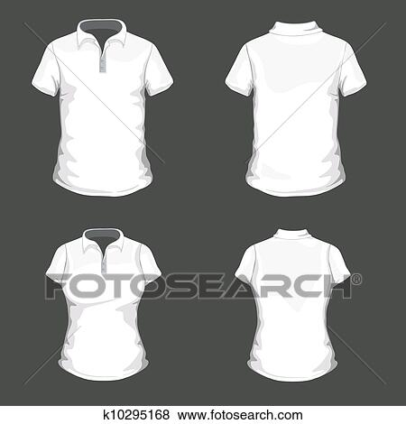Black, White And Gray Realistic Slim Male Polo T-shirt Design.. Royalty  Free Cliparts, Vectors, And Stock Illustration. Image 104603487.