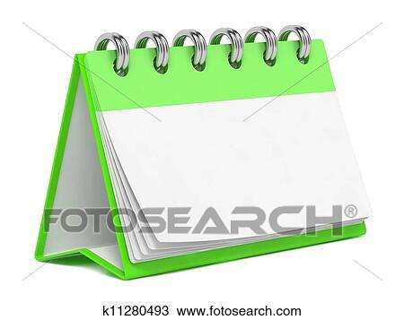 Dessin vide calendrier bureau isol sur white k11280493 recherchez des cliparts des - Calendrier sur le bureau ...