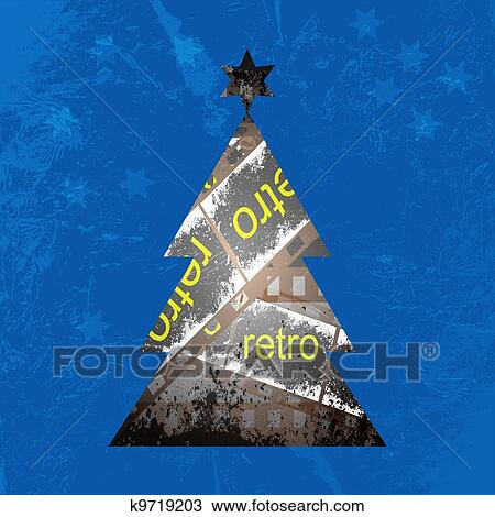 Video Tape Of The Christmas Tree Circuit Vector Background Drawing